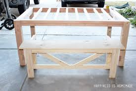 diy farmhouse table bench happiness is homemade