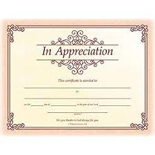 Certificates Of Appreciation Amazon Com Certificate Of Appreciation Pack Of 12