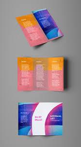 Tri Fold Brochure Online Design Colorful Abstract Trifold Brochure Template Brochure