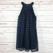 Romeo And Juliet Couture Size Chart Romeo Juliet Couture Eyelet Shift Dress Navy Blue Size