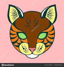 Kočičí Hlavy Oldskůl Stylu Tetování Stock Vektor Imagoaiva