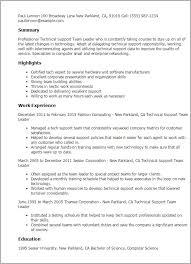 Team Leader Job Description For Resume Lead Responsibilities