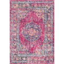 persian vintage arla fuchsia 8 ft x 10 ft area rug