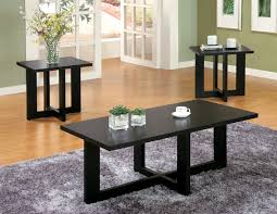 3 piece living room table sets black
