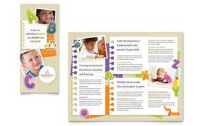 tri fold school brochure template kindergarten tri fold brochure template design school brochure