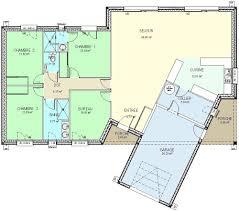 Plan Maison Plain Pied 130m2 Amazing Plan Maison Chambres Plain