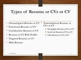 types of resume ppt types of resume format best 25 online