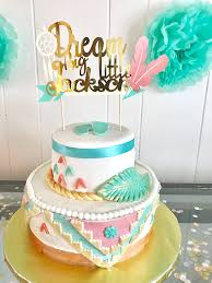 Dream Catcher Baby Shower Cake Bohemian Cake Topper Boho Wedding Decorations Boho Baby Shower 35