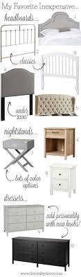 bedroom furniture pieces. My Favorite Inexpensive Bedroom Furniture Pieces - From Headboards To Nightstands Dressers!