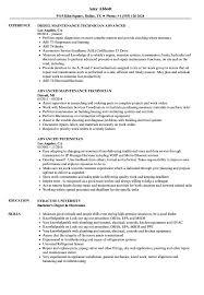 Advanced Technician Resume Samples Velvet Jobs