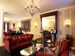Interior Elegant Living Room On Asian Design Concept With Red