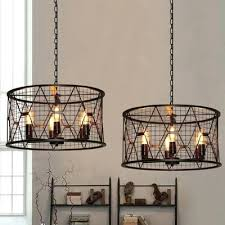 cage light chandelier pasco 4