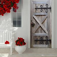 3d door sticker vintage old wooden door wallpaper living room home decorations creative pvc decal mural art diy office wall arts wn640 decal art for walls