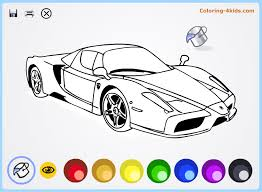 Small Picture Cool cars coloring pages online for kids Ferrari coloing 4kidscom