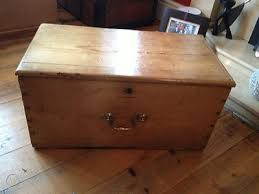 victorian chest old blanket box trunk