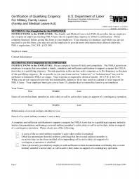 Fmla Form Delectable Family Leave For A Qualifying Exigency Related To Active Duty