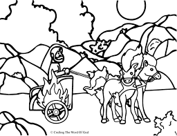 elijah taken up to heaven coloring page chariot crafting the word of god on philip and the ethiopian eunuch coloring page