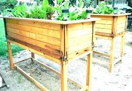 above ground garden box above ground garden box elevated planter boxes raised bed plans waist high