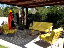 yellow mid century modern outdoor furniture