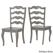 grey wood dining chairs. Eleanor French Ladder Back Wood Dining Chair (Set Of 2) By INSPIRE Q Classic - Free Shipping Today Overstock 20163473 Grey Chairs L