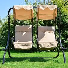 outsunny outdoor 2 seater garden swing