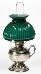 bradley hubbard nickel plate kerosene footed finger lamp