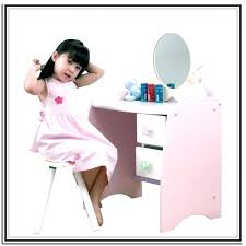 childs wooden vanity toddler table childrens dressing and chair