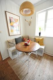 Breakfast Nook Bench Breakfast Nook With Hanging Lamp And L Shaped Bench Making A