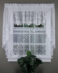 valerie kitchen curtains white