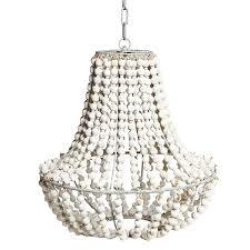 beaded ball chandelier white wash beaded chandelier pendant light