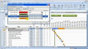 Gantt Chart Colors Change Colors In Gantt Chart Construction Schedule Using Excel