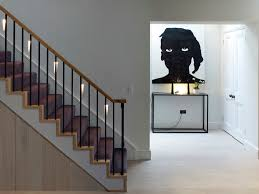 stairwell-lighting-Staircase-Contemporary-with-artwork -concrete-console-table-contemporary-art-joinery
