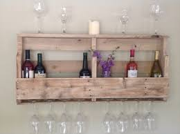 Diy Pallet Wine Rack Plans DIY Pallet Wine Rack Shelf Wooden