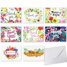 tarjeta de agradecimientos coceca 48 unids floral tarjeta de agradecimiento tarjeta en blanco
