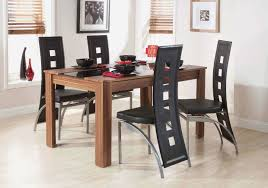 black dining room chairs set of 4 with modern design