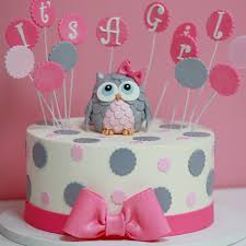 Its-A-girl-baby-shower-cake-Sweet-Memories-Bakery-polka-dot-pink ...