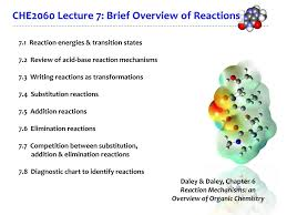 Reaction Mechanisms An Overview Of Organic Chemistry Ppt