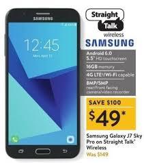 Walmart Black Friday 16GB Samsung Galaxy J7 Sky Pro Straight Talk