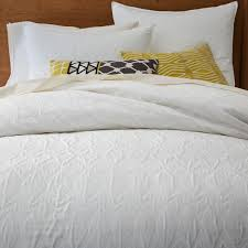 chic white matelasse duvet cover for bed covering idea