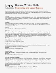 Writing Skills Examples Based Resume The Best Cv Latest Like