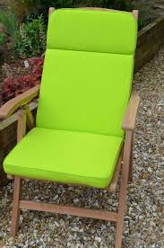 lime green recliner chair cushions and