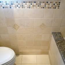 Decorative Tile Strips Close Up Shower Niche 40