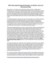 Sample Thesis Proposal For Business Administration Thesis