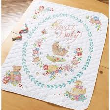 Bucilla® Sweet Baby Quilt Stamped Cross-Stitch & Bucilla® Sweet Baby Quilt Stamped Cross-Stitch Kit Adamdwight.com