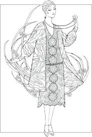 Coloring Pages Fashion Designer Fashion Design Coloring Pages Model