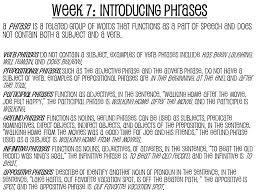 juniors semester old bellwork grammar week 7