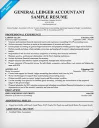 best ideas of general ledger accountant sample resume about - Accountant  Sample Resume