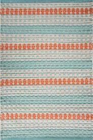 siesta key beach jute braided light blue orange white braided rug