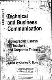 eric ed technical and business communication bibliographic  eric ed308538 technical and business communication bibliographic essays for teachers and corporate trainers eric streaming internet