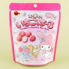 My Melody Strawberry Chocolate Rice Puffs - Blippo Kawaii Shop